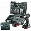 Cordless Hammer Drill Metabo 18 Volt SB 18 LT Set Mobile workshop